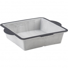 "Structure Silicone™ PRO Square Cake Pan with Marble effect - 8"" x 8"""