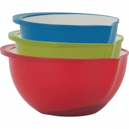 Polypropylene Mixing Bowls Set/3 Two-Tone