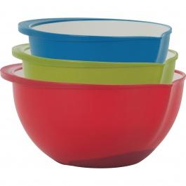 Polypropylene Mixing Bowls Set/3 Two-Tone
