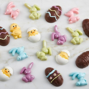 Trudeau SET OF 3 EASTER BUNNY CHOCOLATE MOLDS