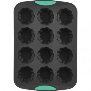 Trudeau 12ct Flower Cupcake Pan Mint