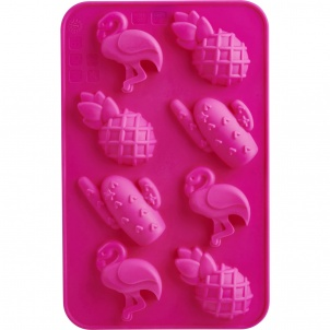 Trudeau SET OF 2  CHOCOLATE MOLD- FLAMINGO AND PINAPPLE