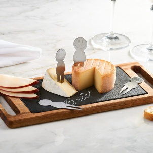 Trudeau 6pc Smiley Cheese Board Set