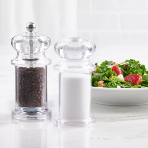 """Trudeau 5.5"""" TRADITION PEPPER MILL AND SALT SHAKER DUO"""