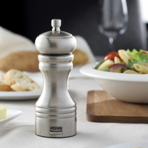 "Trudeau 6"" PROFESSIONAL PEPPER MILL STAINLESS STEEL"