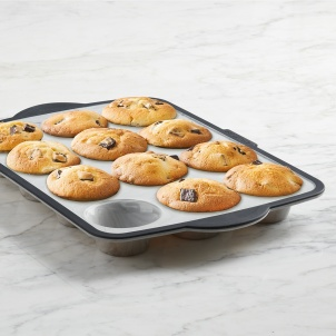 Trudeau Structure Silicone™ PRO 12 count Muffin Pan Marble effect