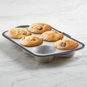 Trudeau Structure Silicone™ PRO 6 count Muffin Pan Marble effect