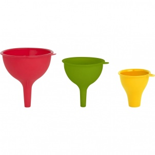 Trudeau SET OF 3 SILICONE FUNNELS