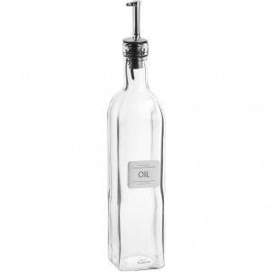 OIL BOTTLE WITH METAL PLATE
