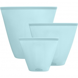 SET OF 3 ECO SILICONE STAND-UP FOOD BAGS