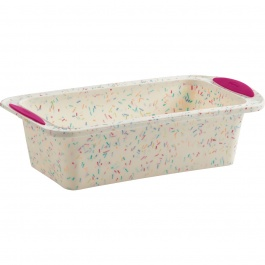 STRUCTURE SILICONE™ LOAF PAN WHITE CONFETTI