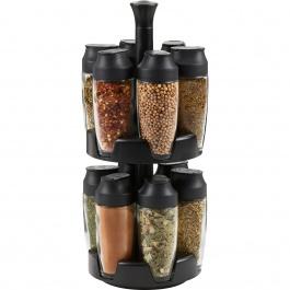 12 Jar Flick Spice Carousel Empty
