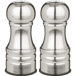 "4.5"" Century Stainless Steel Pepper and Salt Shakers"
