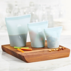 Trudeau SET OF 3 ECO SILICONE STAND-UP FOOD BAGS
