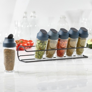 Trudeau 6 Bottle Horizontal Spice Rack