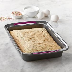 Trudeau Moule à gâteau rectangulaire 23 x 33 cm en métal