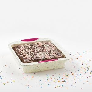 Trudeau Moule à gâteau carré Structure Silicone™ Confetti Blanc
