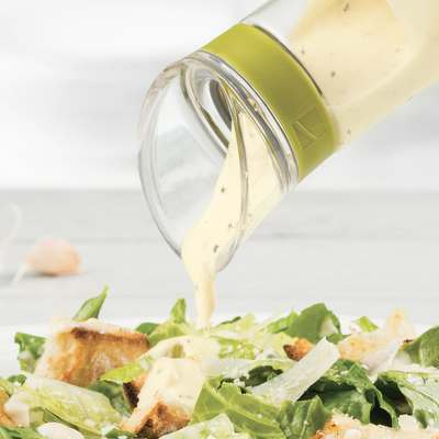 <BR>For thicker dressing, remove cap completely to pour