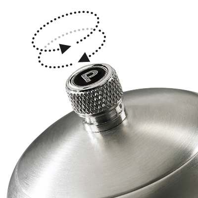 <BR>Bouton d'ajustement - tourner le bouton dans le sens horaire pour une mouture fine, dans le sens antihoraire pour une<BR>mouture plus grosse<BR><BR><BR>