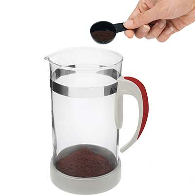 <BR>Add one rounded tablespoon of ground coffee for each cup of coffee you wish to make<BR>