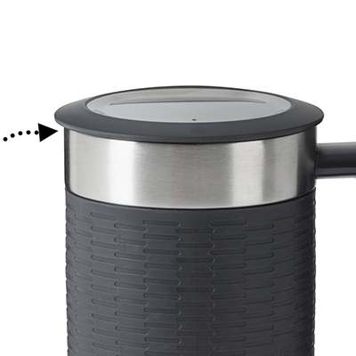 <BR>Spill-proof lid with tight seal silicone ring<BR>