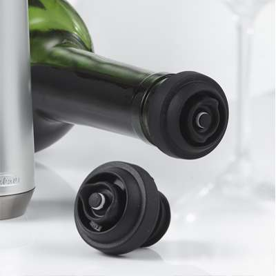 <BR>Leak-proof stoppers enable you to store your wine horizontally