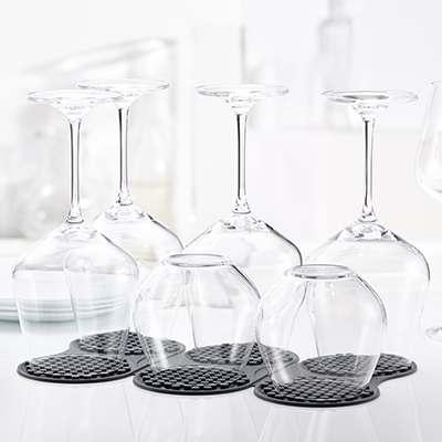 <BR>Fits 6 XL wine glasses