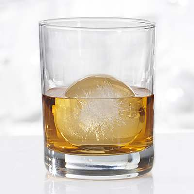 <BR>Spherical ice melts slower and will not dilute as quickly