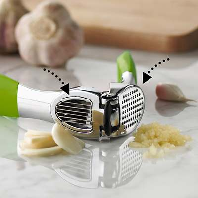 <BR>Offers two options: slicing and pressing<BR>
