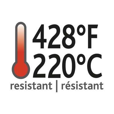 <BR>Résiste à la chaleur jusqu'à 428°F/220°C<BR><BR>
