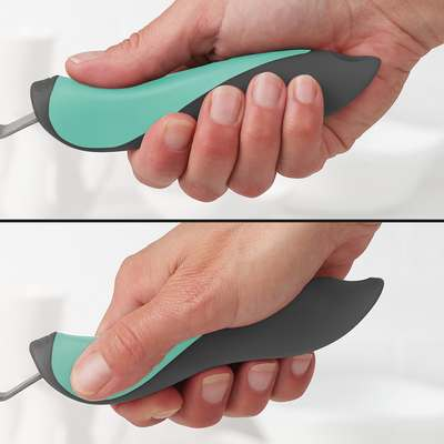 <BR>Handle has two comfortable grip positions<BR><BR>
