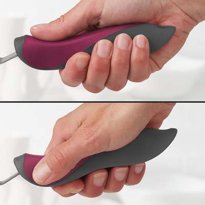 <BR>Handle has two comfortable grip positions<BR>