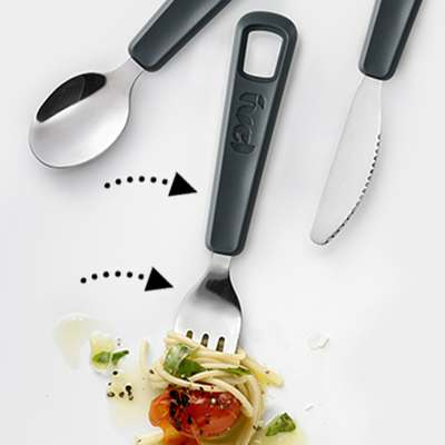 <BR>Sturdy polypropylene handle and stainless steel utensil<BR>