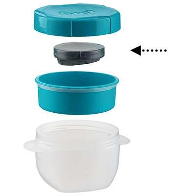 <BR>Inclut un bloc glacé pour conserver le lait au froid<BR>