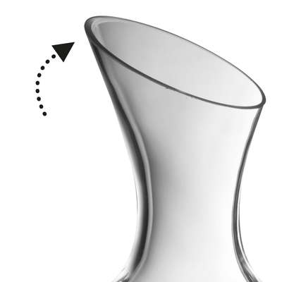 <BR>Angled spout to control pouring<BR>